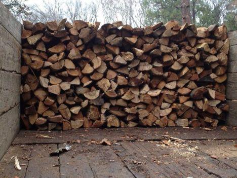 firewood on truck